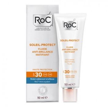 RoC Soleil Protect 50 ml Crema Viso Fluida Anti Lucido Opacizzante Spf 30- IN OMAGGIO 1 DOPOSOLE ROC DA 200 ML-OFFERTISSIMA-ULTIMI PEZZI-