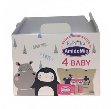 Euphidra Amidomio - 4 Baby Cofanetto+ Pochette Porta Cambio Con Doppia Tasca
