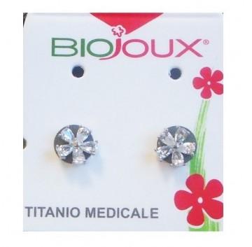 5 Zirc Biojoux Orecchini Crystal Zircon Petals 6MM 1 paio