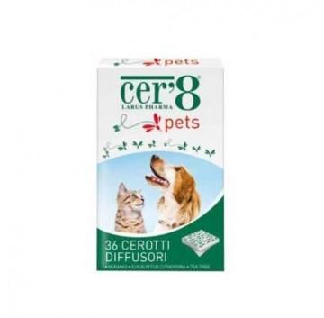 Cer'8 Pets Cerotti Diffusori di Olii Essenziali Naturali Anti Zanzare per Animali 36 pezzi
