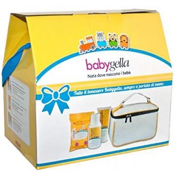 Babygella Trousse - Borsa Primi Viaggi con Salviettine + Detergente + Pasta Protettiva