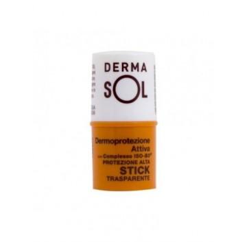 Dermasol Solare Stick Labbra Trasparente Protezione Alta 4 ml
