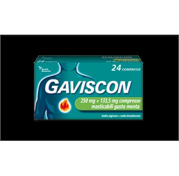 GAVISCON*24CPR MAST MENTA 250MG