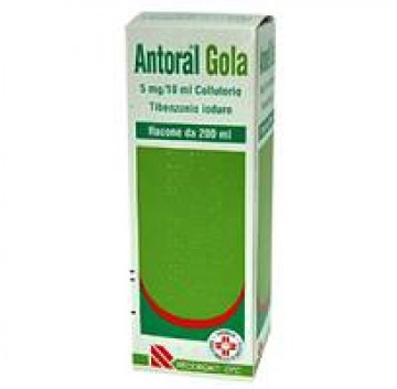 ANTORAL GOLA*COLLUT 200ML 5MG/