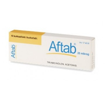 AFTAB*10 CPR 0,025 MG
