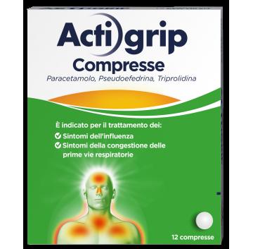 ACTIGRIP *12CPR 2,5+60+500MG