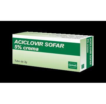ACICLOVIR SOFAR*CREMA  3G 5%
