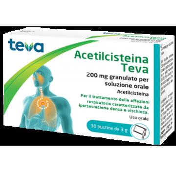 ACETILCISTEINA TEVA*30BS 200MG